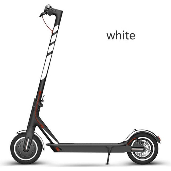 TROTTINETTE-Autocollant réfléchissant pour scooter White-Mi 365 - pro - 1s Autocollant d'avertissement de nuit