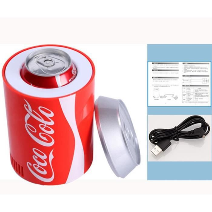 USB Mini Réfrigérateur de boisson refroidissement de Cola - rouge