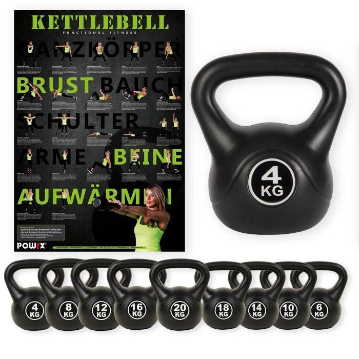 Kettlebell revêtement vinyle de 4 kg à 20 kg (6 kg)