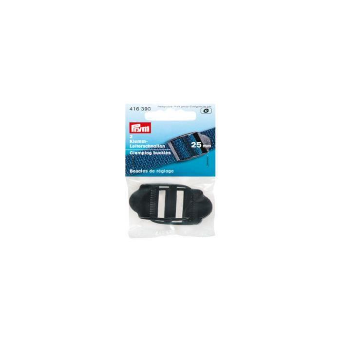 PRYM Boucle de Réglage Plastique 25 mm Noir