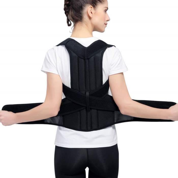 TD® Correcteur Épaule Support Dos Ceinture Dorsale Soutien Correcteur de Posture Bande Redresse Dos Réglable Posture #XXL