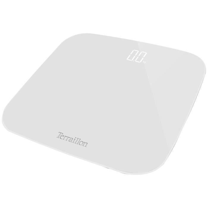 TERRAILLON Pèse-personne électronique - 180 kg - 100 g - Blanc