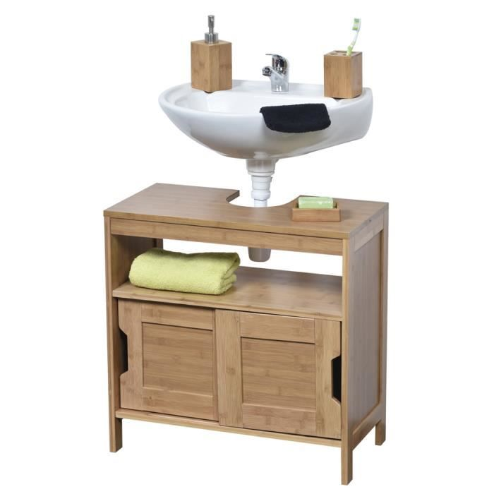 meuble sous lavabo en bois achat vente meuble sous. Black Bedroom Furniture Sets. Home Design Ideas