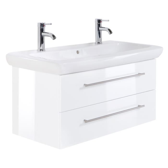 vasque 100 Meuble salle de bain Keramag IT! 100 cm à double vasque blanc billiant