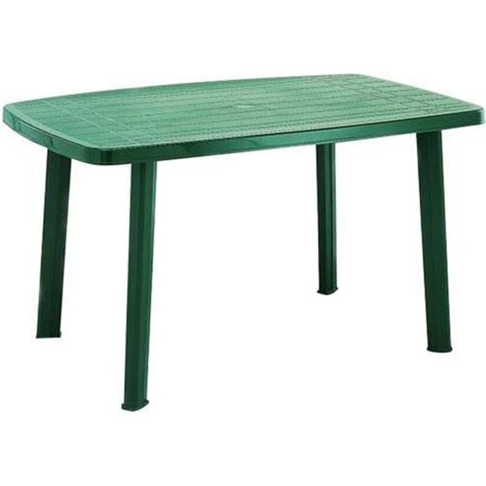 Fun star faro table en plastique 90 x 140 cm vert achat for Table cuisine 140 x 90