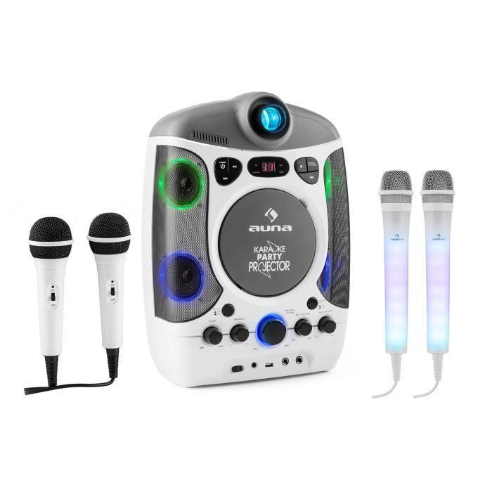 4 micros rétroéclairage LED Pack lecteur Karaoké Mini chaine enfant Lecteur CD