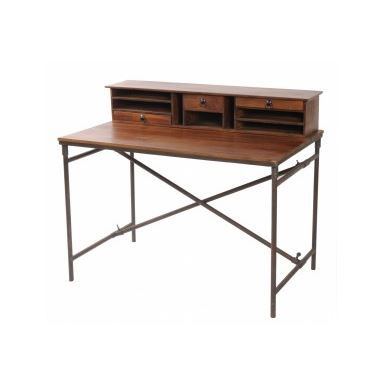 bureau metal et bois achat vente bureau bureau metal. Black Bedroom Furniture Sets. Home Design Ideas