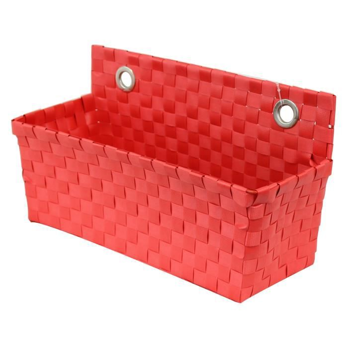 panier de rangement suspendre rouge happy achat vente casier pour meuble cdiscount. Black Bedroom Furniture Sets. Home Design Ideas