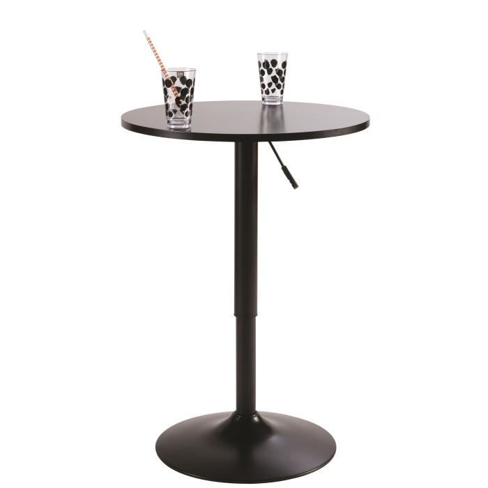 butler table de bar 60 cm noir achat vente mange debout butler table de bar noire bois. Black Bedroom Furniture Sets. Home Design Ideas