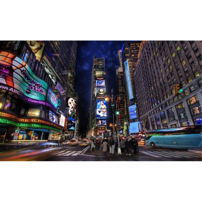 Poster mural de times square a new york achat vente - Poster mural new york ...