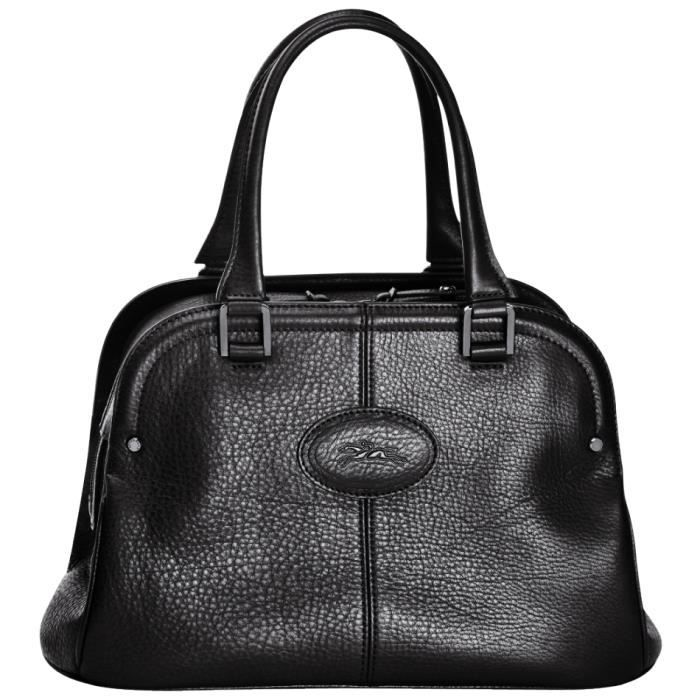 LONGCHAMP - sac femme porté main en cuir - NOIR MYSTERY - Achat ...