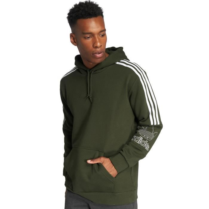 new products latest fashion beauty Adidas originals Homme Hauts / Sweat capuche Outline Olive ...