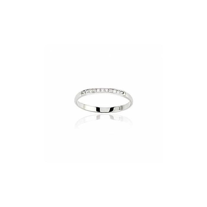 ALLIANCE - SOLITAIRE Alliance en or blanc 18 carats et diamant - Secret
