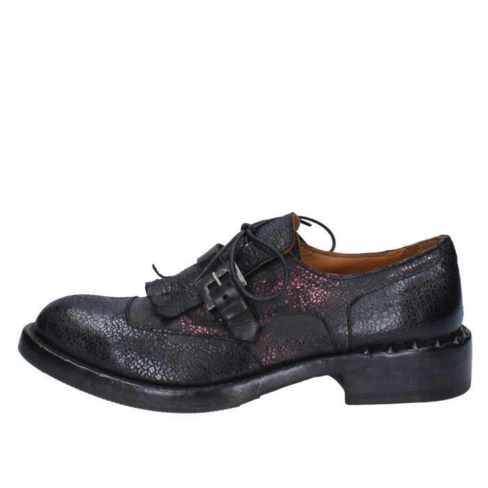 Femme MOMA Noir Achat Derbies Noir Chaussures BY951 Cuir X80PZwnOkN