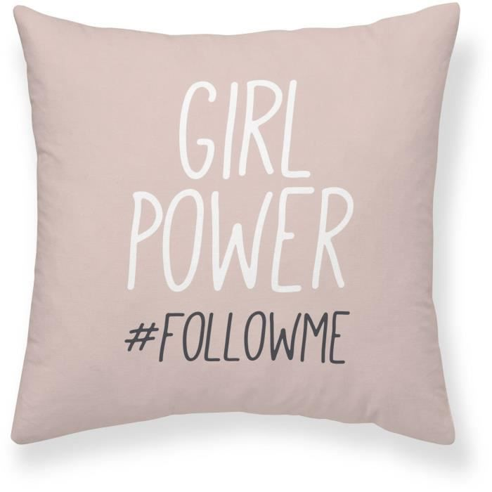 COUSSIN TODAY Coussin Girl Power Follow - 40 x 40 cm
