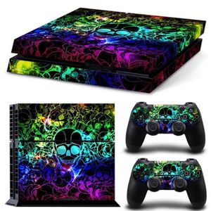 STICKER - SKIN CONSOLE  Coloré Crâne Vinyle Autocollant Ps4 Decal Pour So