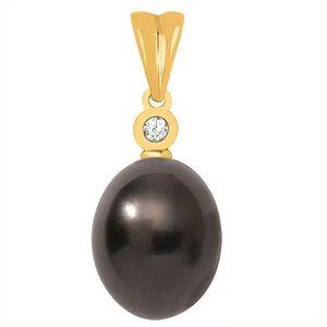 PENDENTIF VENDU SEUL Pendentif Perle de Tahiti Or blanc 18k & Diamant 0