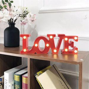 LAMPE A POSER Forme Creative Love Letter LED Night Light lampe à