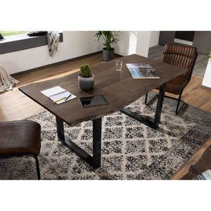 TABLE À MANGER SEULE Table à manger 140x90cm - Bois massif d'acacia laq