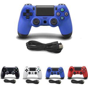 MANETTE JEUX VIDÉO JCU® Manette Filaire compatible PS4 DualShock bleu