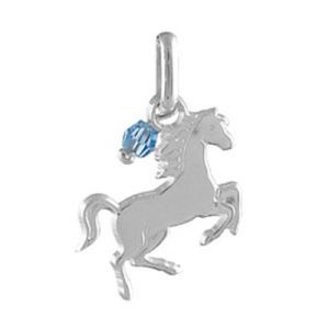 Chance//Cheval//Fer /à cheval Larg:8mm // Haut:10mm Argent 925//000 MARY JANE Pendentif Argent Femme//Homme//Fille//Gar/çon