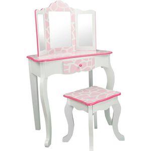 COIFFEUSE Meuble coiffeuse table de maquillage enfant avec m