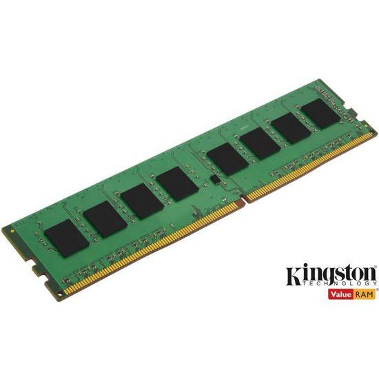 KINGSTON - Mémoire PC RAM - ValueRam DIMM DDR4 - 8Go - 2666MHz - CAS 19 (KVR26N19S8/8)