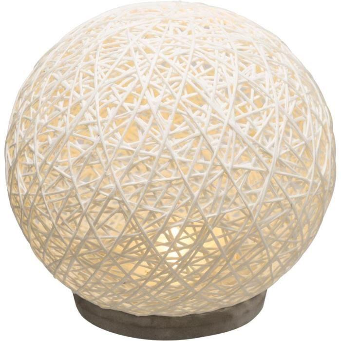 Lampe design en forme de boule - D 18.5 cm - Blanc 20 cm