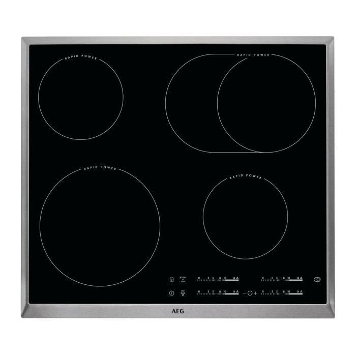AEG HK654850XB, Intégré, Céramique, Noir, Acier inoxydable, 1600 W, 14,5 cm, 2800 W