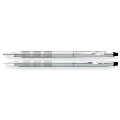 Cross Classic Century Parure stylo bille et porte-mine 0,5 mm Chrome satin Import Royaume Uni