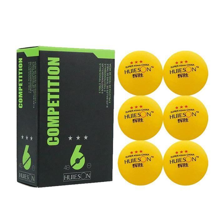 【ping pong】3 balles de ping-pong d'étoiles, boule de tennis de table de 40 mm de diamètre pour l'entraînement compétitif_YU1948
