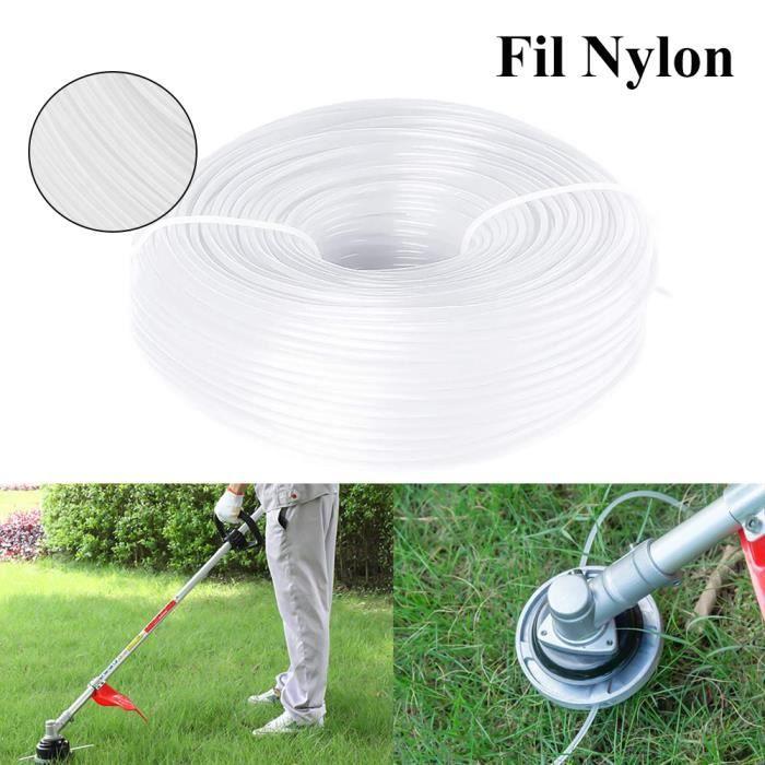 Fil pour débroussailleuse nylon rond 2.4mm x 100M - blanc
