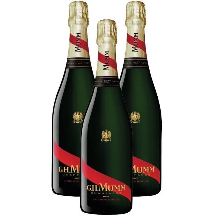 3X Mumm Cordon Rouge Brut 75cl - Champagne