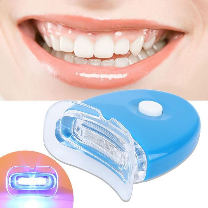 BLEU Mini Appareil Lampe Blanchiment de dent pour blanchir les dents pour beauté domicile maison femme homme Santé