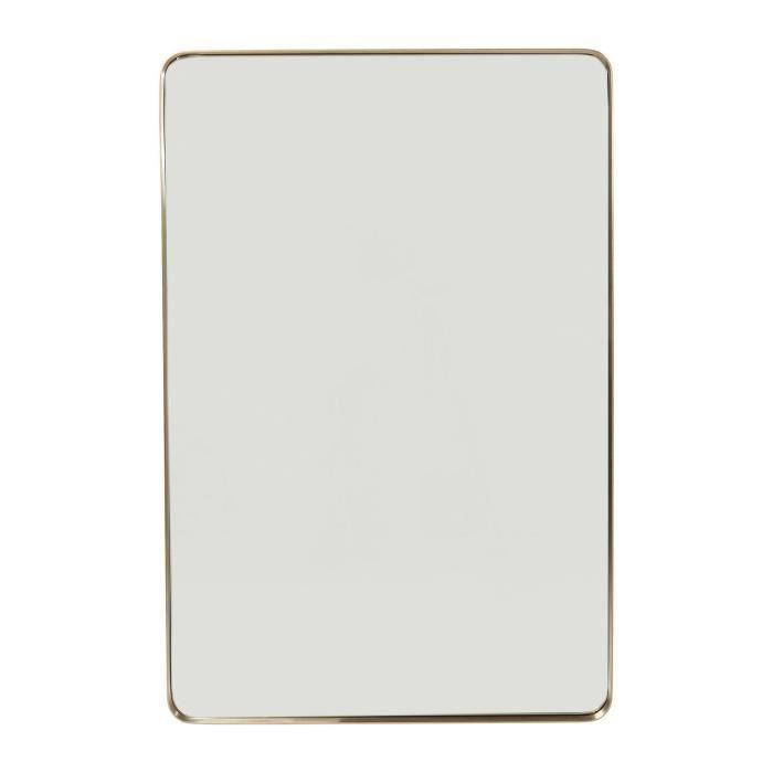 Miroir Curve rectangulaire laiton 120x80cm Kare Design