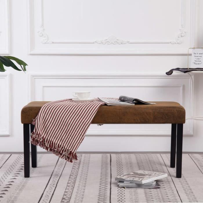 🍁5024 Magnifique-Banc Banquette d'Entrée Style Contemporain scandinave -Pouf de Rangement grand confort -Meuble Bas Banc de rangeme