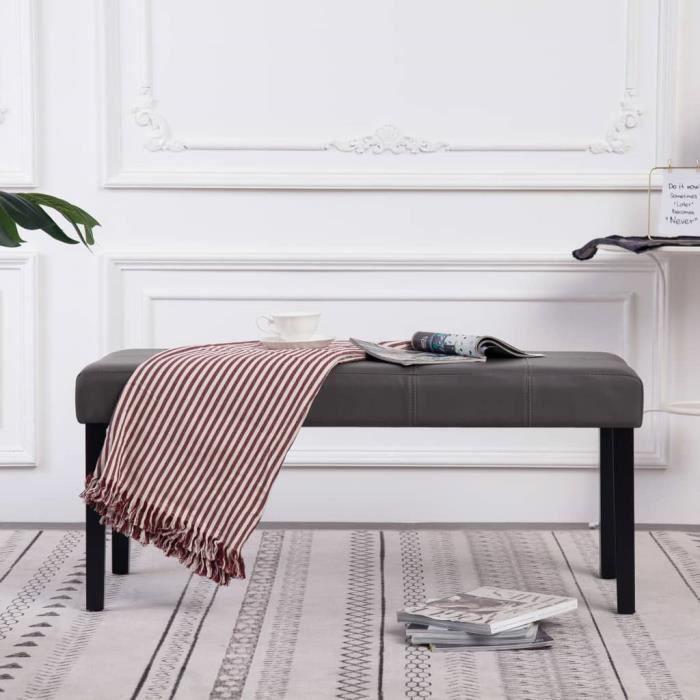 Géniale🌤 Magnifique-Banc Banquette d'Entrée Style Contemporain scandinave -Pouf de Rangement grand confort -Meuble Bas Banc d5090