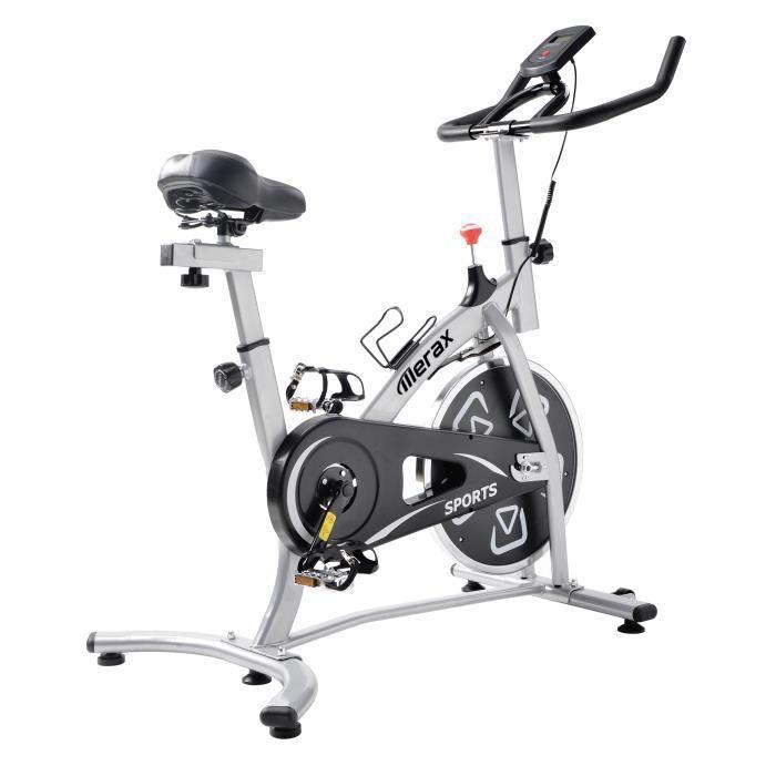 Vélo d'appartement avec console LCD Vélos d'intérieur Aérobic Sièges et Guidons réglables