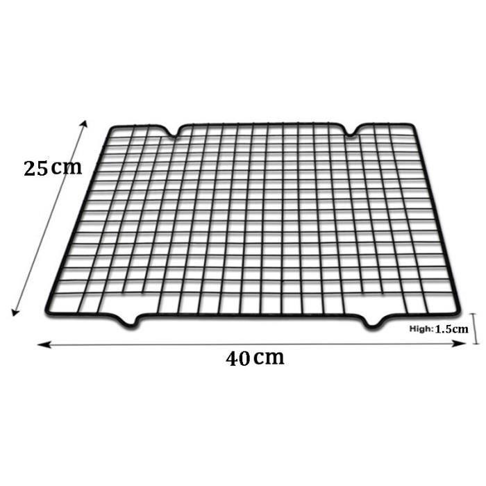 Support de refroidissement antiadhésif en acier inoxydable à mailles métalliques, plateau de cuisson pour biscuits, bisc GF4332