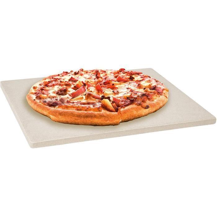Levivo 331800000103 Pierre &agrave pizza en cordi&eacuterite, Beige, 30 x 38 x 1,5 cm4