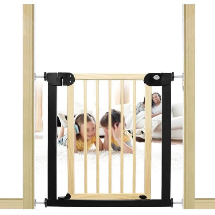 Barrière de protection pour escalier - Pour animaux de compagnie - En bois massif - Fermeture automatique - Pour escaliers et [423]