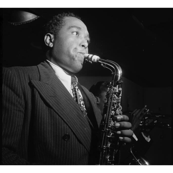 Poster Affiche Charlie Parker Bird Saxophone Artiste Jazz Portrait 31cm x 34cm