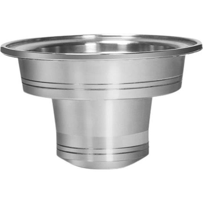Adaptateur pour capsule de café réutilisable Nespresso Vertuoline pour filtre Nespresso, argent