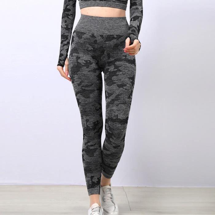 SURVETEMENT Femme - Pantalon de sport moulant extensible taille haute simple et confortable - Noir GT™