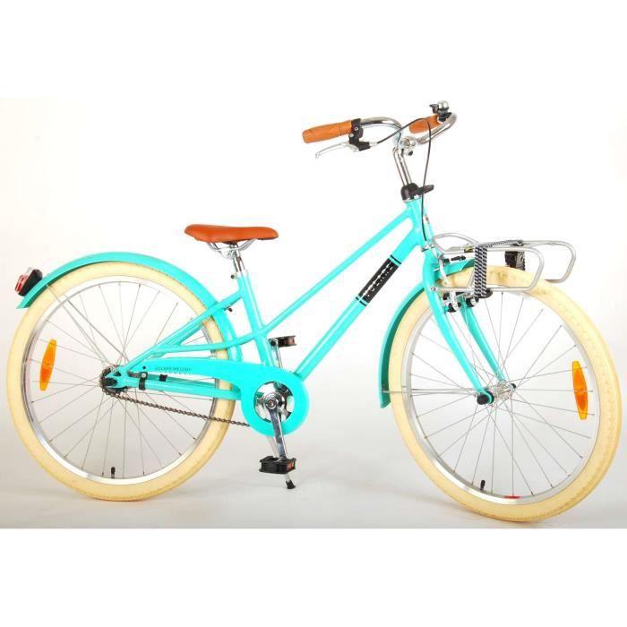 Vélo pour enfants Volare Melody - Filles - 24 pouces - turquoise - Prime Collection