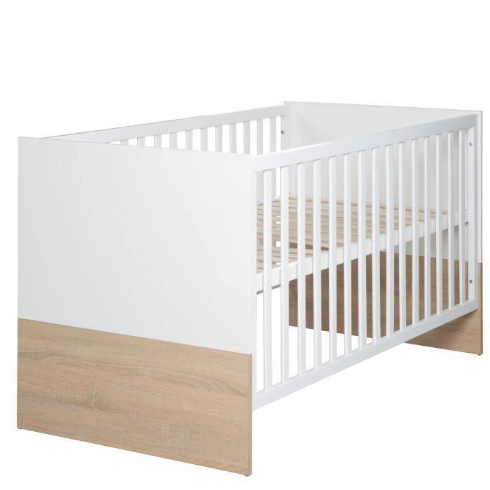 Lit bébé réglable à 3 hauteurs collection 'Gabriella' Roba - 70x140cm
