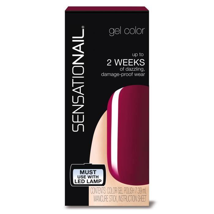 SENSATIONAIL Vernis gel semi-permanent Sugar Plum 71590 - Rouge bordeaux