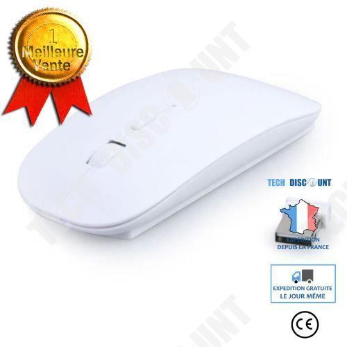 TD® Souris sans fil blanche périphérique accessoires ordinateurs pc portable branchement USB périphérique pour ordinateur