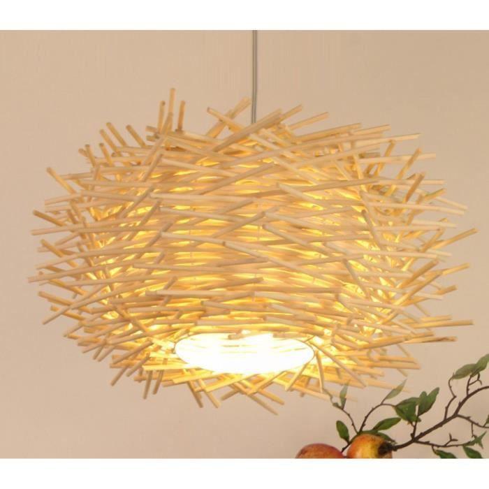 T&T éclairage Rotin Nid Créatif Moderne De Jardin Lustre LED Hôtels Cafe,35cm-A