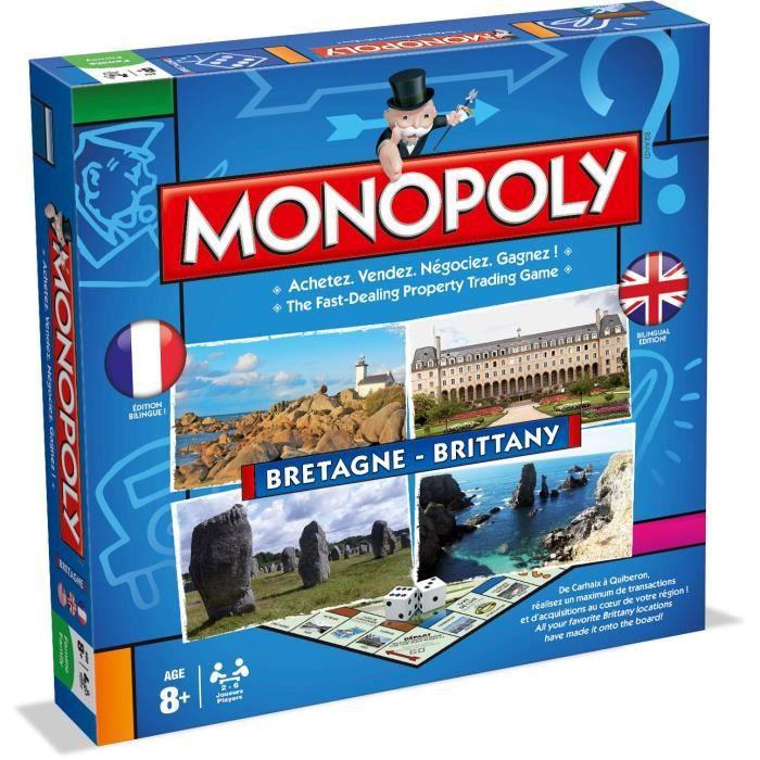 MONOPOLY - Bretagne - Jeu de société - Version bilingue français-anglais